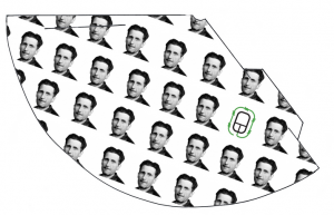 George Orwell 1984 surveilance cameras party hats