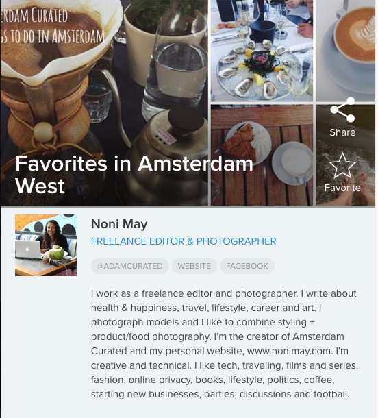 My favourite places in Amsterdam