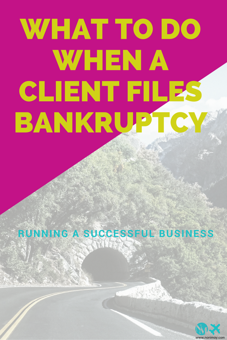What to do when a client files bankruptcy