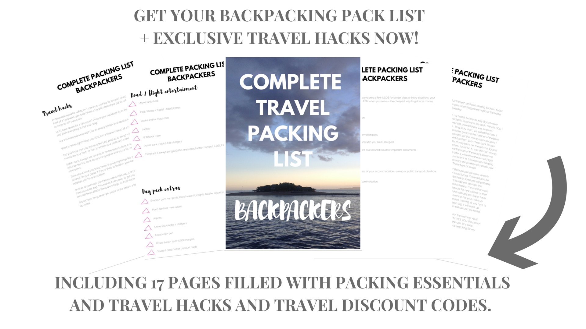 Complete travel packing list and travel hack guide for backpackers