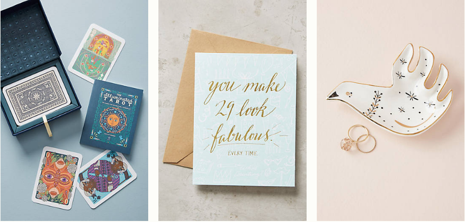 Amazing Anthropologie gifts for literally every person in your life under $25. Gifts for someone who has everything! 1