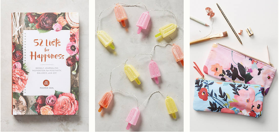 Amazing Anthropologie gifts for literally every person in your life under $25. Gifts for someone who has everything! 4