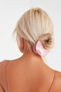 Urban Outfitter gifts under $25 all bloggers will love. Half Moon Glitter Hair Clip